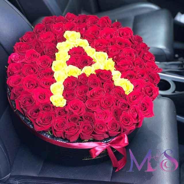 خرید باکس گل حروف