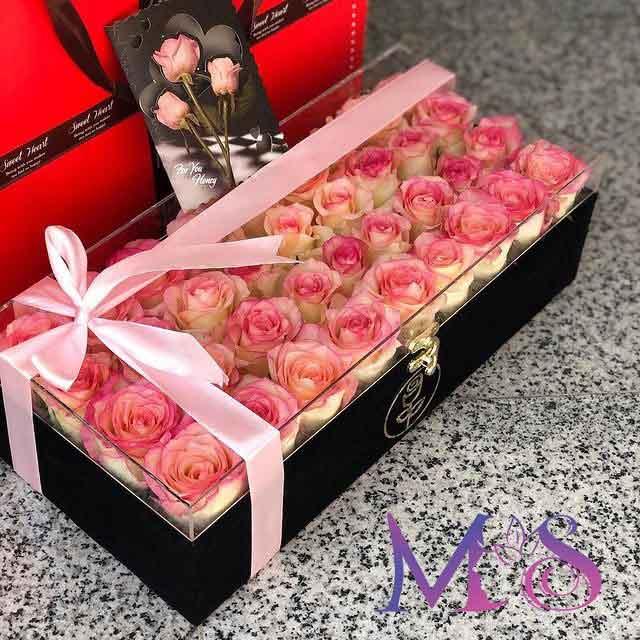خرید گل رز لب ماتیکی