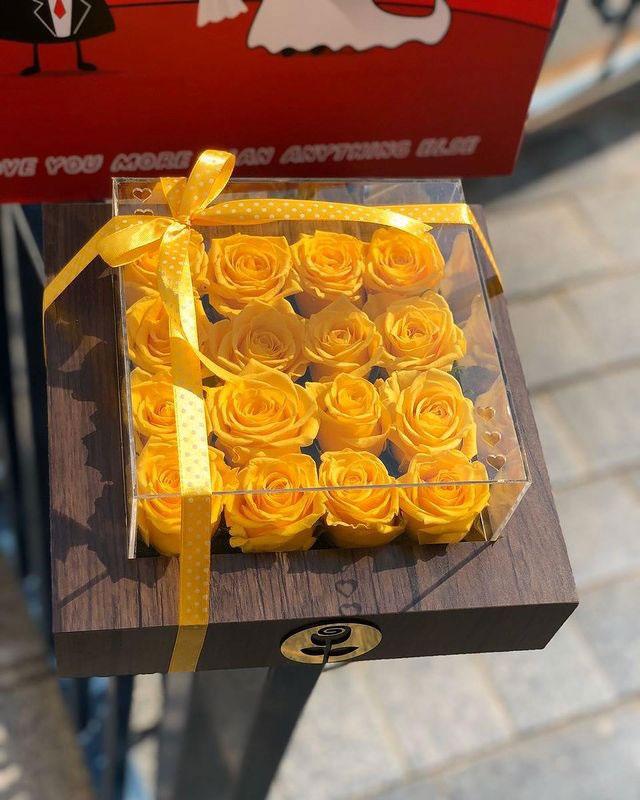 خرید گل رز رنگ زرد